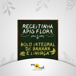 Bolo Integral de banana com linhaça