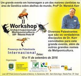 Apis Flora apoia:  II Workshop Internacional de Meliponicultura