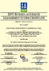 Recertificação da ISO 9001:2008 para a Apis Flora