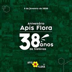 ANIVERSÁRIO APIS FLORA: EMPRESA COMPLETA 38 ANOS NESTE MÊS!